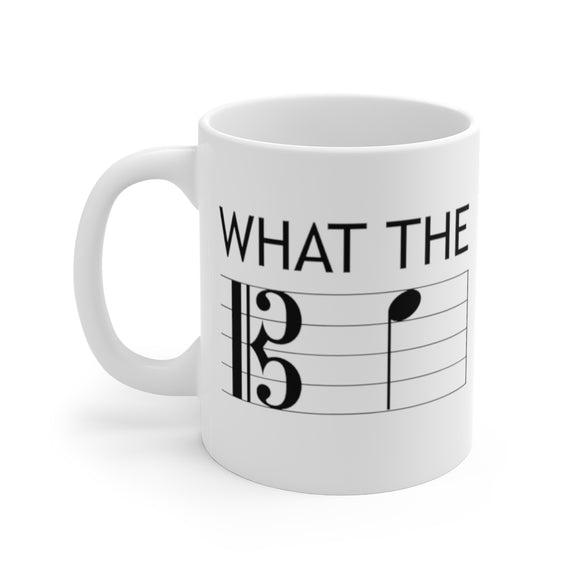 What the F Alto Clef Mug