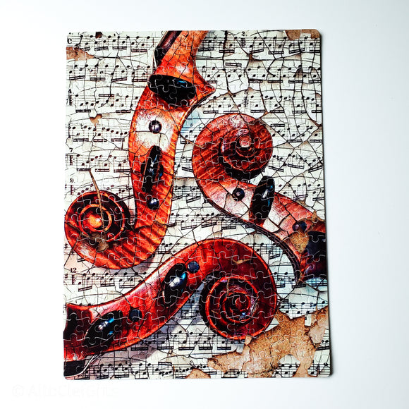 Viola Scrolls Puzzle - Holly Viola Art