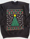 Ugly Christmas Sweatshirt - Alto Clef design
