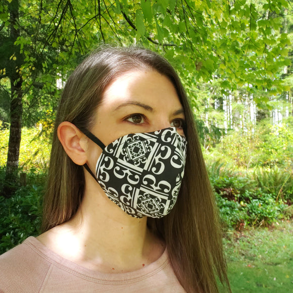 New! 3-Layer Alto Clef Cone-Style Face Mask