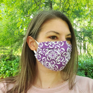 New! 3-Layer Pleated Alto Clef Face Mask - Cotton with built-in filter