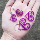 Valentine's C Clef Heart Gift Set (Earrings, Keychain, Heart)