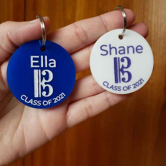 Personalized Keychain for Class of 2021 Music Students