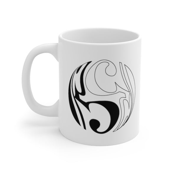 Yin and Yang Alto Clef Coffee Mug