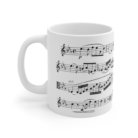 Brahms E Flat Major Viola Sonata Coffee Mug