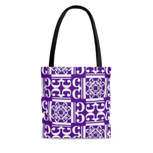 Indigo Alto Clef Tote Bag with White Clefs