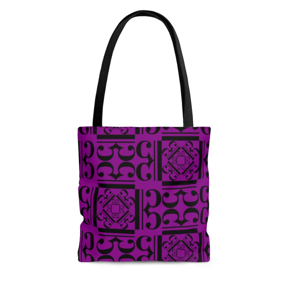 Purple Alto Clef Tote Bag