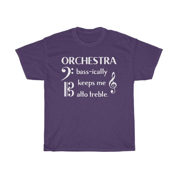 Orchestra Shirt with Treble, Bass, and Alto Clefs!