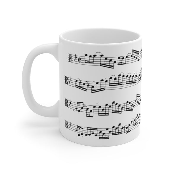 Bach Brandenburg 6 Viola Coffee Mug