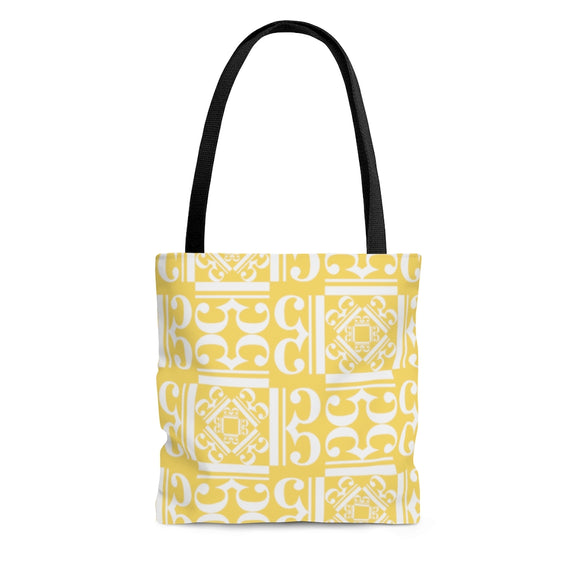Yellow Alto Clef Tote Bag
