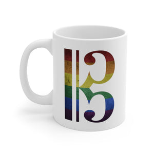 Rainbow Alto Clef Coffee Mug