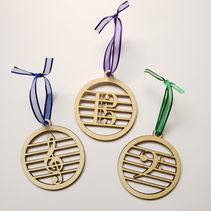 Wood Clef Ornaments
