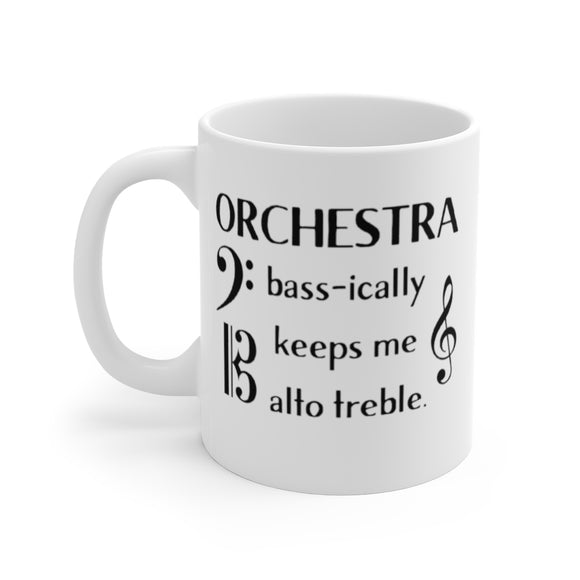 Orchestra Basically Keeps Me Out of Trouble Mug