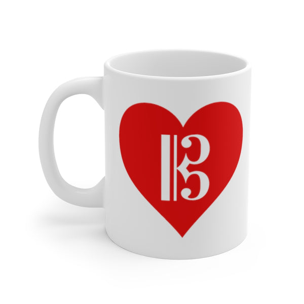 Alto Clef in a Heart Coffee Mug