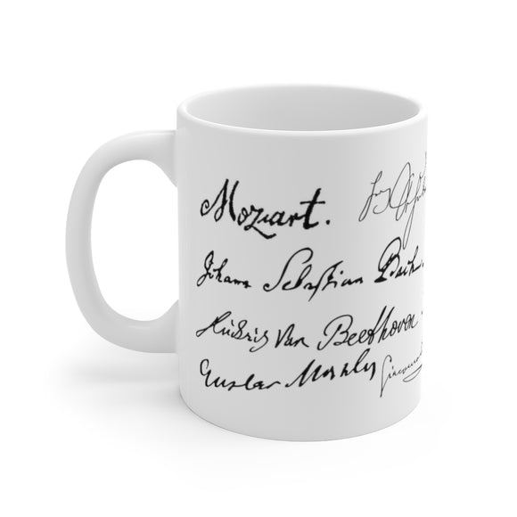 Signatures of composers coffee mug