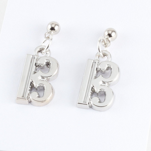 Alto clef charm earrings made of zinc alloy for viola players, violists, trombone, bassoon, and c clef gifts.