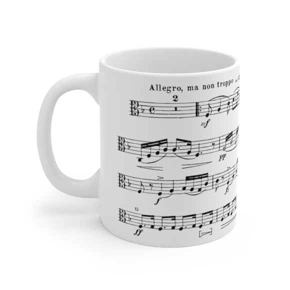 Dvorak American String Quartet Viola Part Coffee Mug