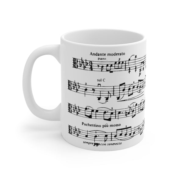 Frank Bridge Pensiero Sheet Music Coffee Mug