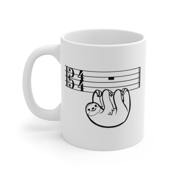 Sloth Alto Clef Coffee Mug