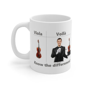Viola / Voilà Coffee Mug - Know the difference!