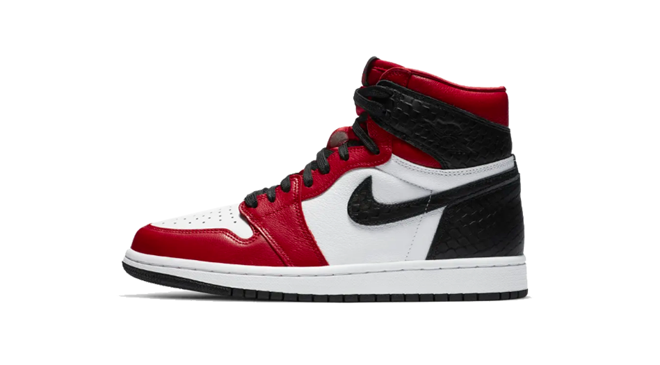 Air Jordan 1 Satin Red Snake Sneaker Release Tees Shoe Sub Category Icon