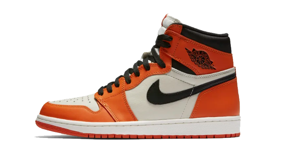 shattered backboard jordan 1s orange and black 1s sneaker tees and matching accessories category Icon