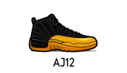 Air Jordan 12 Sneaker Matching Outfit and AJ12 Sneaker Match Accessories Category