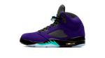Air Jordan 5 Purple Grape Sneaker Tees Category Shoe Side Image