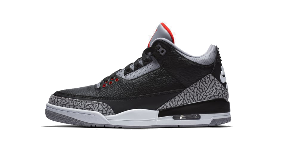 Air-Jordan 3 Black Cement sneaker match tee collection shoe Side Image