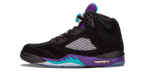 Air Jordan 5 Black Grape Sneaker Match Tees Category Shoe Side Image