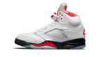 Air Jordan 5 Fire Red Sneaker Tees Category Shoe Side Image
