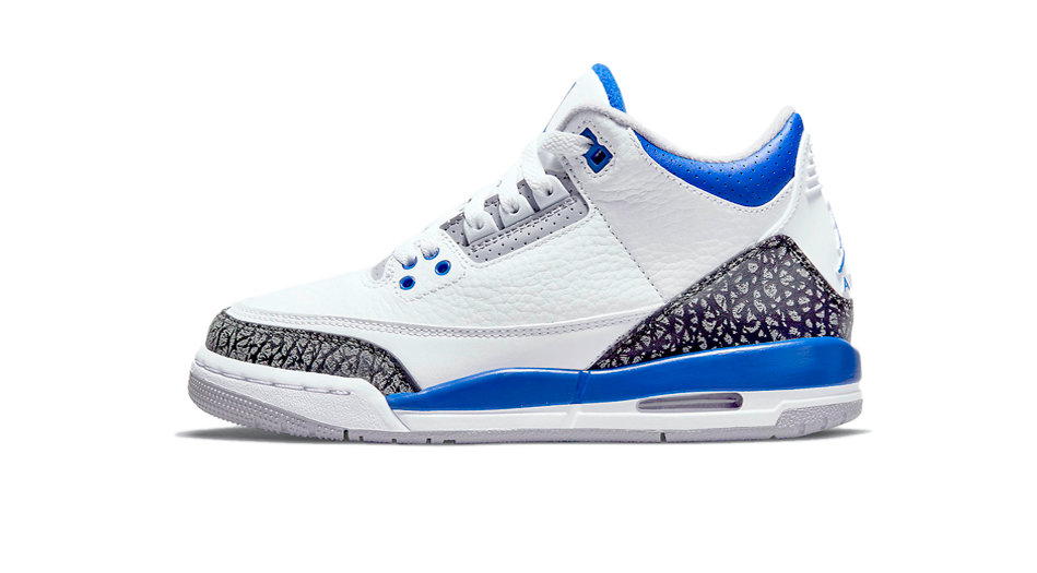 Air Jordan 3 Racer Blue Sneaker Matching Racer Blue 3s Shirts and Accessories Category Icon