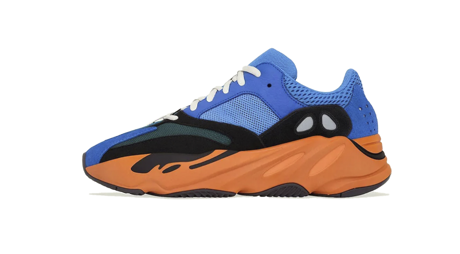 Adidas Yeezy 700 Bright Blue Sneaker Release Tees Outfit and Yeezy 700 Bright Blue Accessories