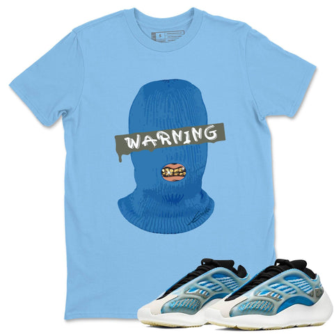 Adidas Yeezy 700 V3 Arzareth Sneaker Shirts And Sneaker Matching Outfits Warning Carolina Blue T-Shirt Image