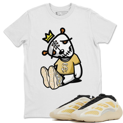 Adidas Yeezy 700 V3 Safflower Sneaker Unisex Short Sleeve Shirts And Sneaker Matching Outfits Dead Dolls White Tee Image