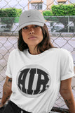 Air Jordan 1 High OG WMNS Silver Toe Air Design Crew Neck T-Shirt Matching Unisex Outfits AJ1 Silver Toe Image White Short Sleeve Tees 4