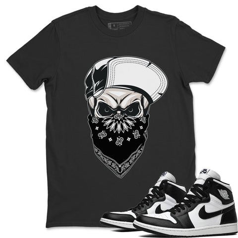 Skull Hat T-Shirt - Air Jordan 1 Black White Air Jordan 1 Shirt Jordan 1 Black White Black S
