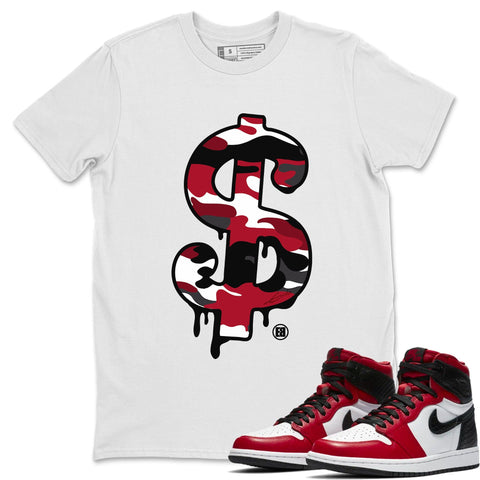 Dollar Camo T-Shirt - Air Jordan 1 Satin Red Air Jordan 1 Shirt Jordan 1 Satin Red White S