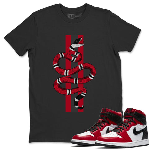 Snake T-Shirt - Air Jordan 1 Satin Red Air Jordan 1 Shirt Jordan 1 Satin Red Black S