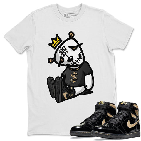 Dead Dolls T-Shirt - Air Jordan 1 Retro High OG Black Metallic Gold Air Jordan 1 Unisex Crew Neck T Shirt Jordan 1 Black Metallic Gold White Tee S