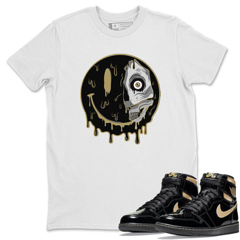 Dead Inside T-Shirt - Air Jordan 1 Retro High OG Black Metallic Gold Air Jordan 1 Unisex Crew Neck T Shirt Jordan 1 Black Metallic Gold White Tee S