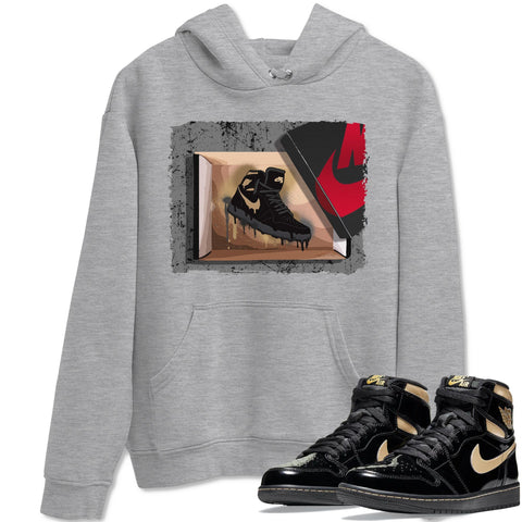 Air Jordan 1 Retro High OG Black Metallic Gold Sneaker Long Sleeve Hoodies And Outfits New Kicks Heather Grey Unisex Hoodie S