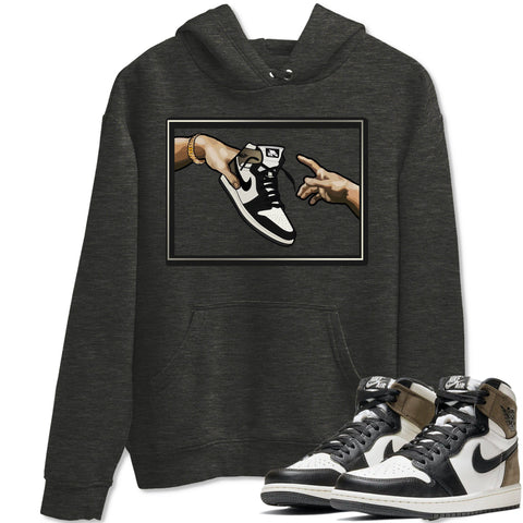 Air Jordan 1 Retro High OG Dark Mocha Sneaker Long Sleeve Unisex Hoodies And Outfits Adam's Creation Charcoal Heather Hoodie S