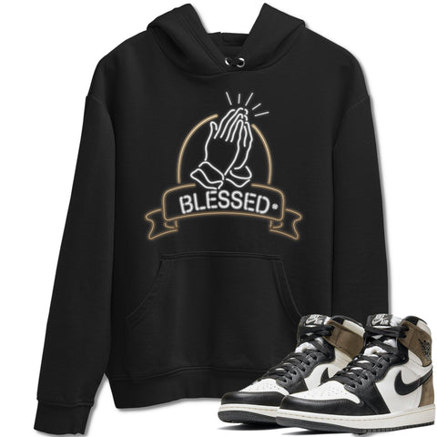 Air Jordan 1 Retro High OG Dark Mocha Sneaker Long Sleeve Unisex Hoodies And Outfits Blessed Black Hoodie S