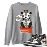Got Em Unisex Sweatshirt - Air Jordan 1 Retro High OG Dark Mocha Sneaker Matching Outfits Long Sleeve Heather Grey Pullovers S