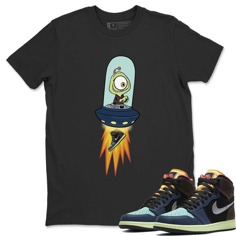 Air Jordan 1 Retro High OG Bio Hack Sneaker Matching Tees and Alien Black T Shirt Image