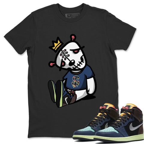 Shop Here for Air Jordan 1 Retro High OG Bio Hack Sneaker Matching Tees and Outfit Dead Doll Black T Shirt Image