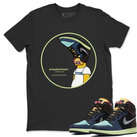 Air Jordan 1 Retro High OG Bio Hack Sneaker Matching Tees and Outfit Sneakerhead Black T Shirt Image