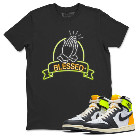 Blessed T-Shirt - Air Jordan 1 Volt Gold Air Jordan 1 White Black Volt Gold Unisex Crew Neck T Shirt Volt University Gold 1s Black Tee