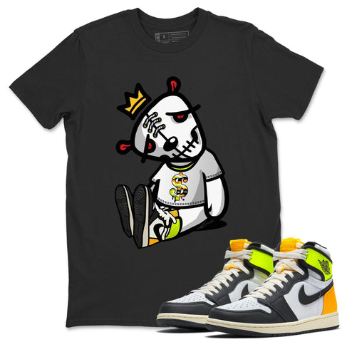 Dead Dolls T-Shirt - Air Jordan 1 Volt Gold Air Jordan 1 White Black Volt Gold Unisex Crew Neck T Shirt Volt University Gold 1s Black Tee
